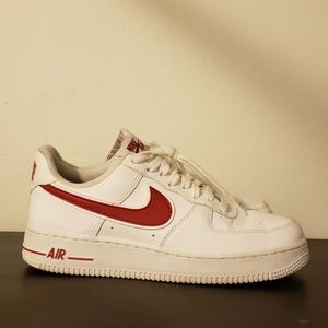 NIKE AIR FORCE 1  '07 3 -White / Gym Red Size 7.5M